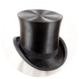 A traditional silk top hat is made from a shellac-reinforced cheesecloth  and covered with hatters  plush 54f3b175c6d
